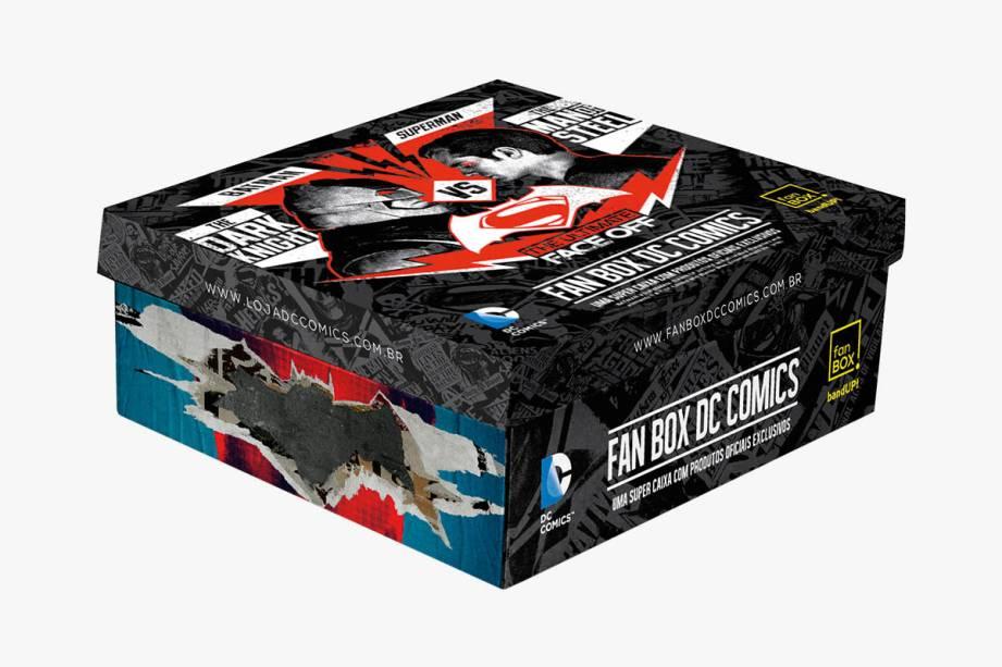 Clube de assinatura de produtos oficiais da DC Comics: R$ 79,90 por caixa
