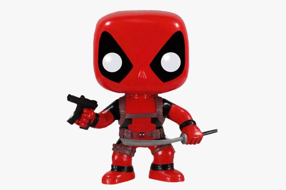 Boneco do personagem Deadpool: R$ 149,90