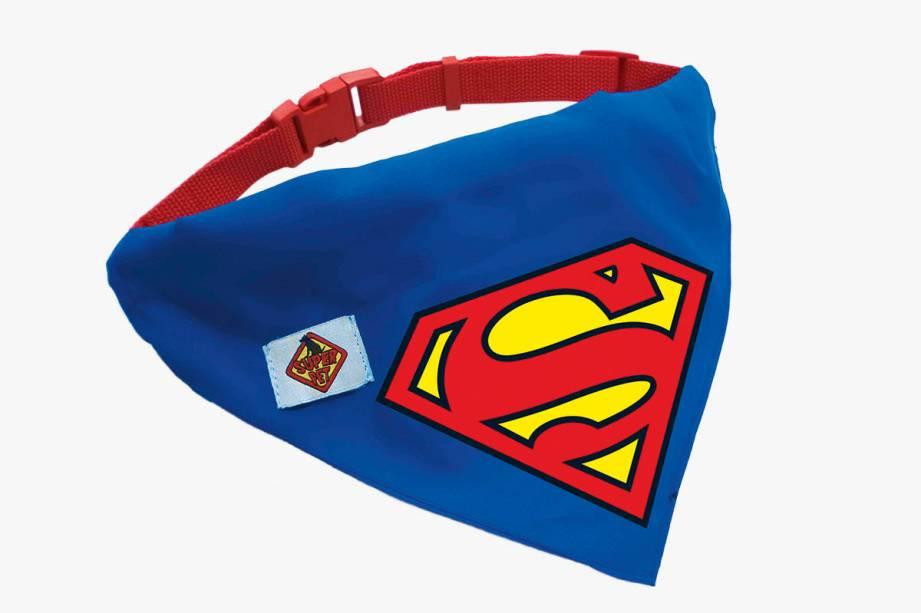 Coleira para cachorro com o símbolo do Super-Homem: R$ 24,90