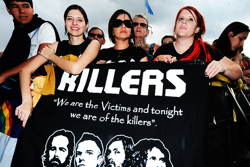 The Killers: fãs guardaram lugar em frente ao palco Cidade Jardim