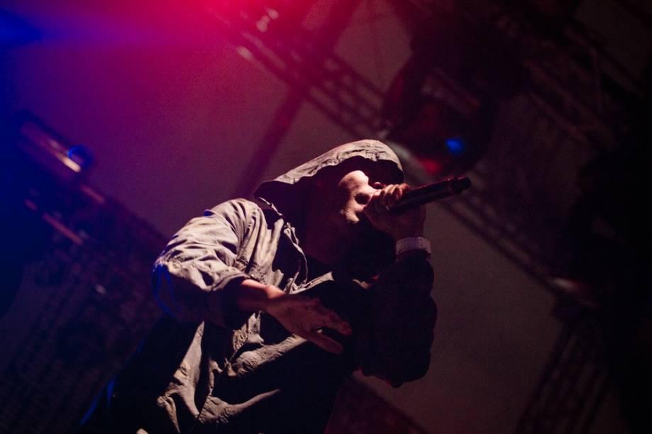 O rapper Nas toca no 2º dia do Lollapalooza 2013