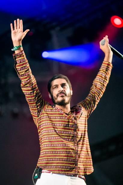 O cantor Criolo no Lollapalooza 2013