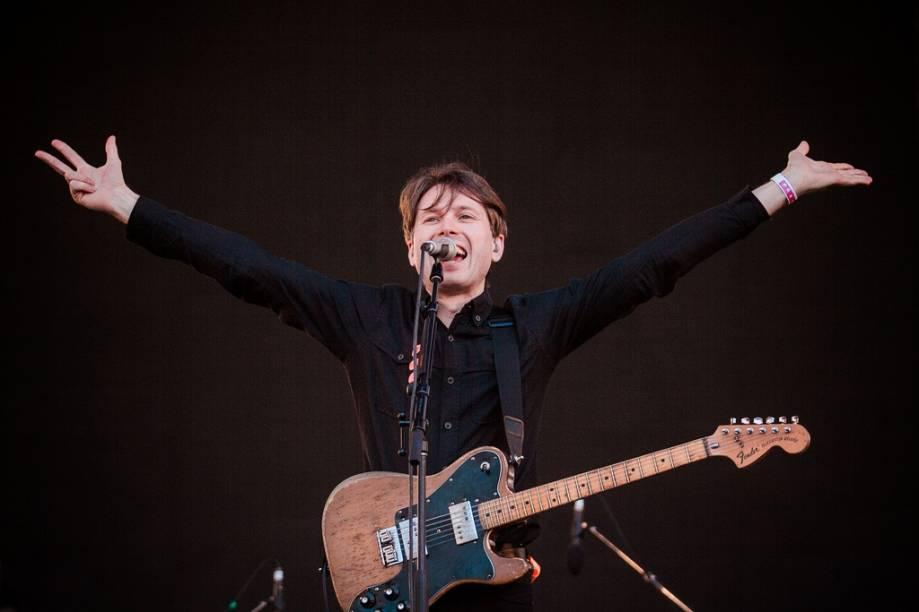Alex Kapranos, do Franz Ferdinand, no 2º dia do Lollapalooza 2013