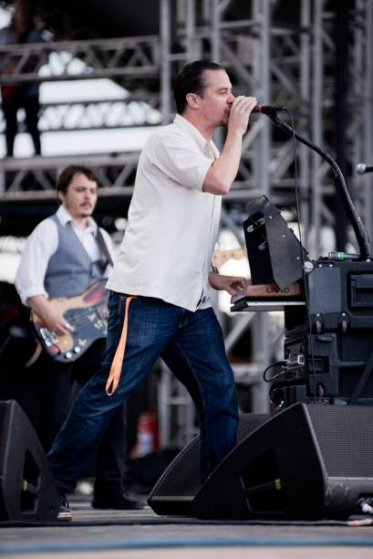 O vocalista Mike Patton, ex-Faith No More, tocou com seu Tomahawk no 2º dia do Lollapalooza 2013