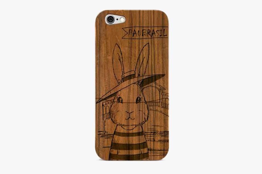 Capa para iPhone 6 feita de madeira de reúso: R$ 125,00