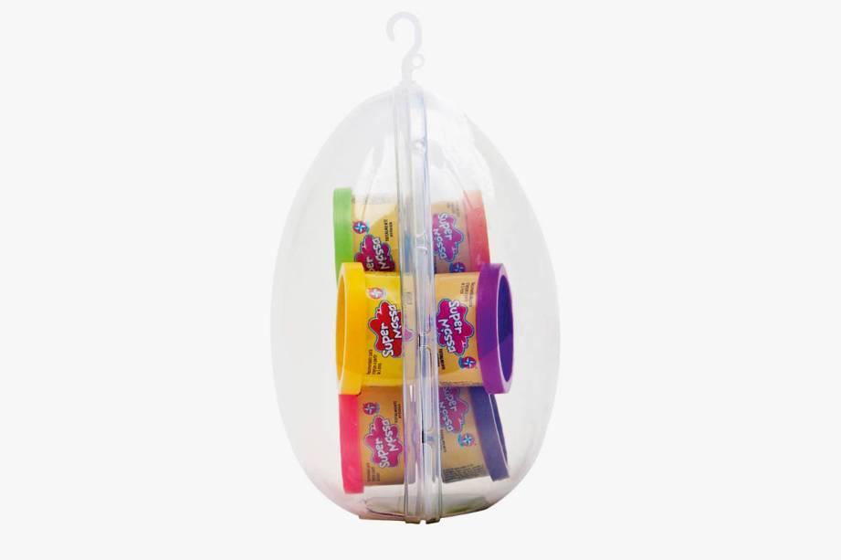Embalagem em formato de ovo com seis potes de massinha: R$ 39,99