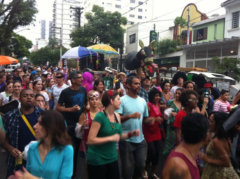 Os foliões do bloco de Carnaval Jegue Elétrico
