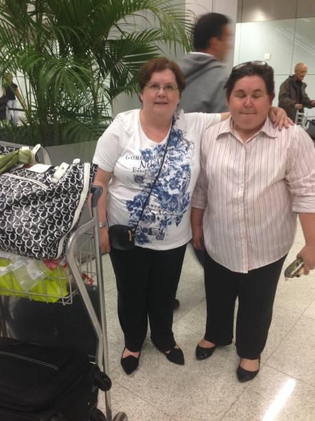 As irmãs Marcia Prado e Andrea Prado: satisfeitas com o serviço do novo Terminal