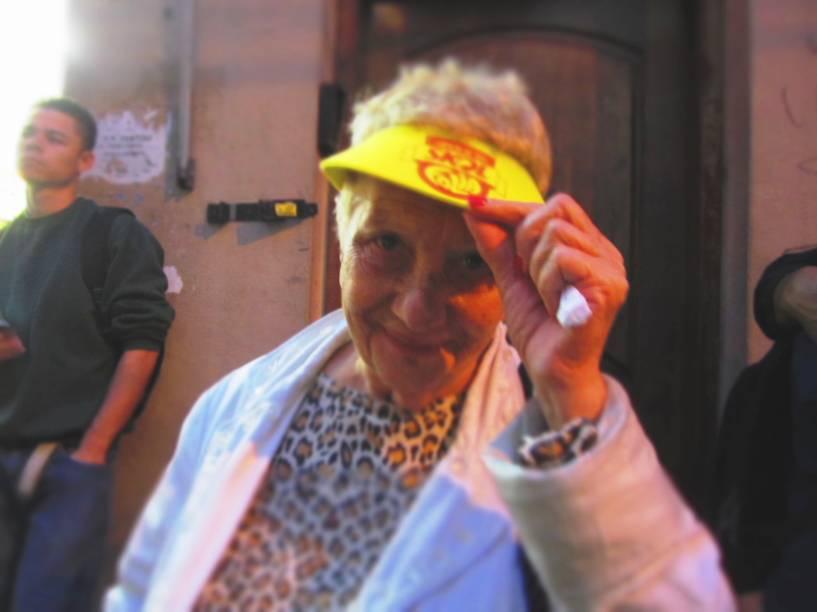 Sophie, moradora da região da Bela Vista há 50 anos: frequentadora assídua