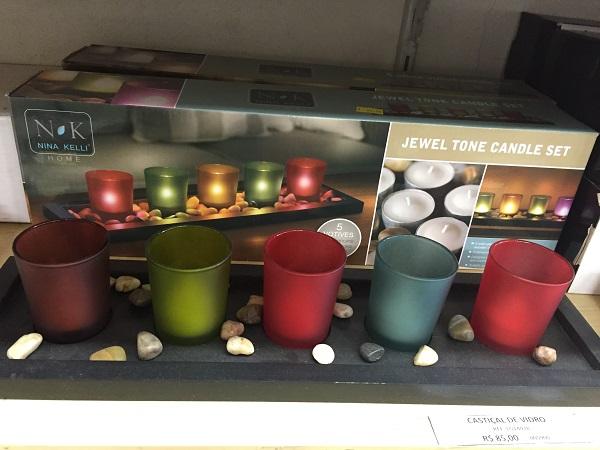 Conjunto de suporte de velas (85 reais)