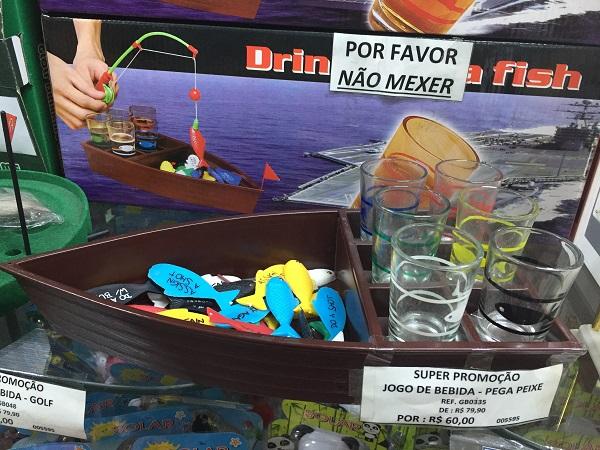 Jogo de bebida pega peixe (60 reais)Pomona Shop