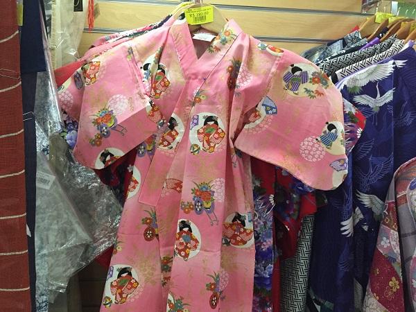 Kimono estampado rosa (450 reais)