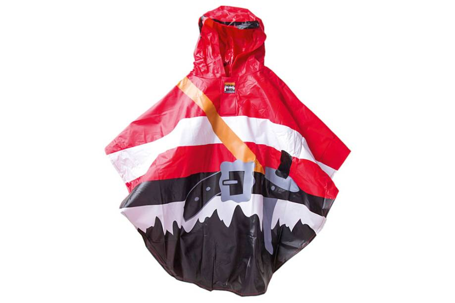 Capa de chuva infantil com estampa de pirata: R$ 138,00