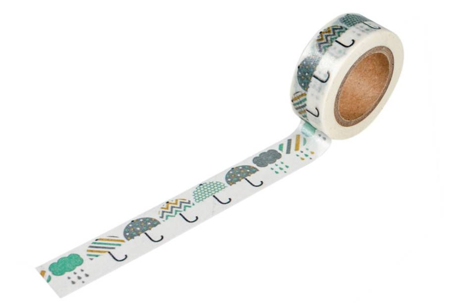 Rolo de fita adesiva estampada: R$ 15,90