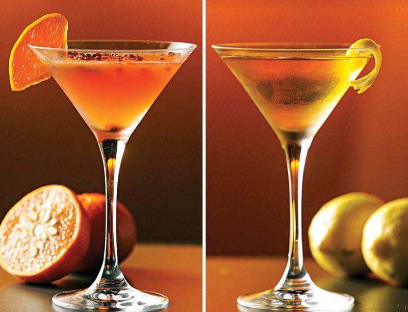 Elyx fresh: tangerina, vodca e pimenta-rosa e Coachella by leblon: cachaça, jerez e licor 43