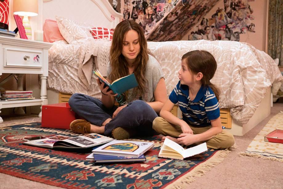 Brie Larson e Jacob Tremblay, em O Quarto de Jack: ela concorre ao Oscar e ele é a grande surpresa mirim da temporada