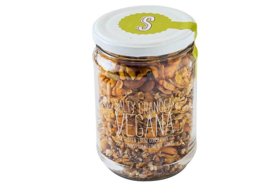 ranola vegana salgada (200 gramas): R$ 19,90