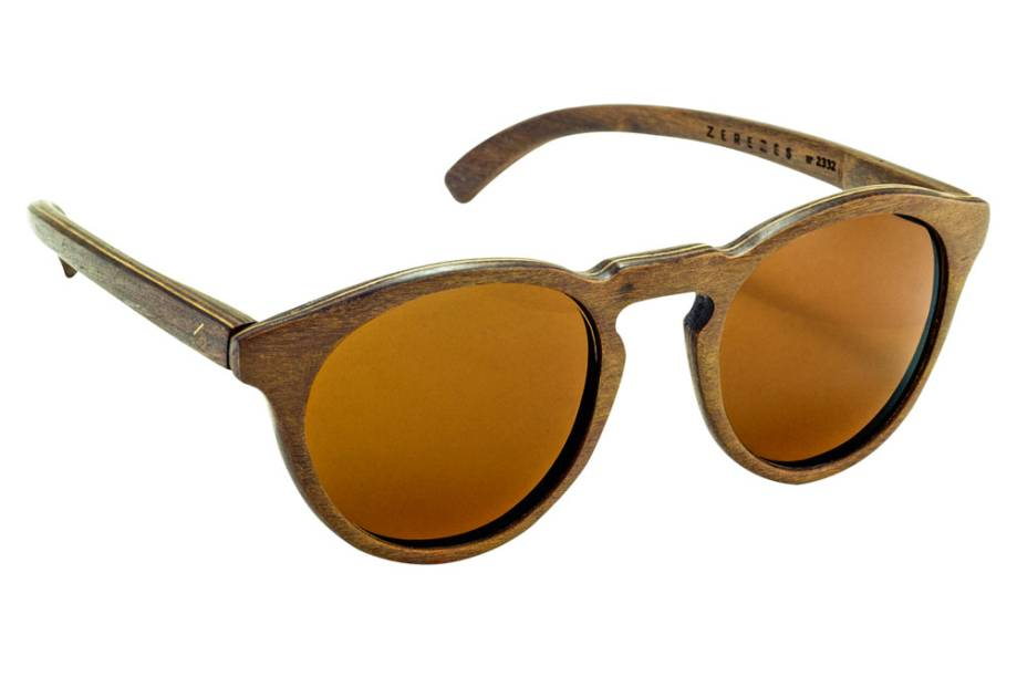 Óculos de sol em madeira certificada: R$ 430,00 o par