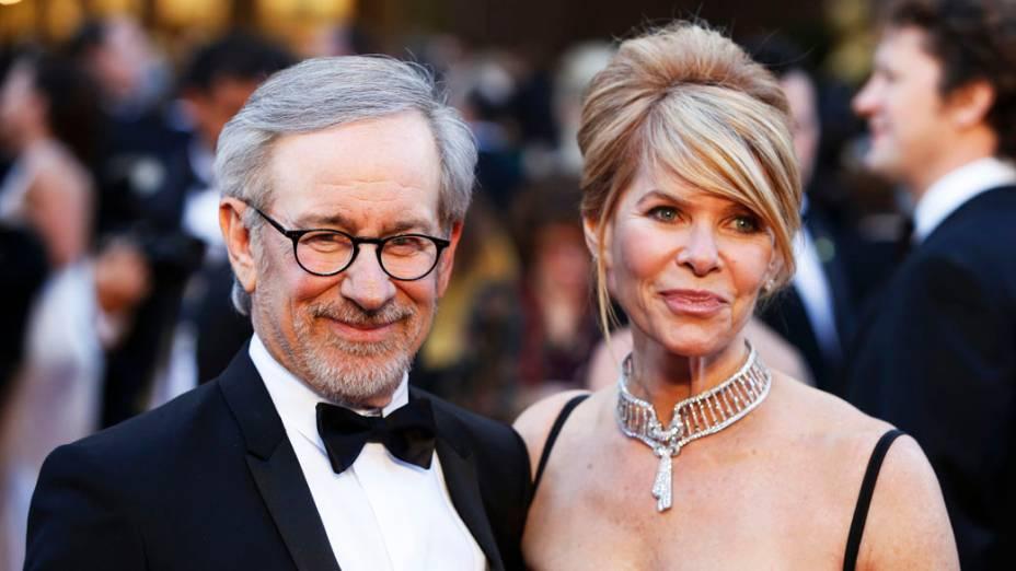 Steven Spielberg e sua mulher Kate Capshaw