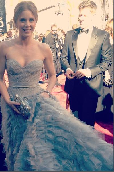 Amy Adams na cerimônia do Oscar 2013