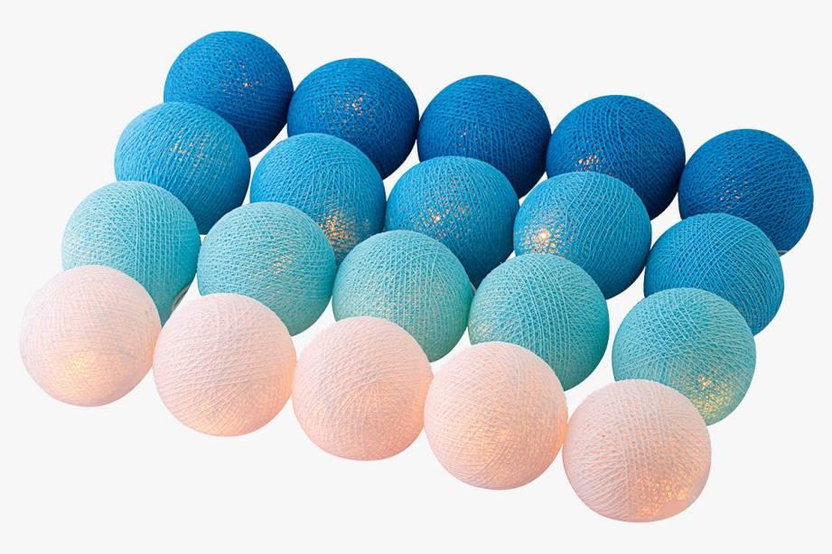 Cordão com vinte bolas luminosas: R$ 109,90