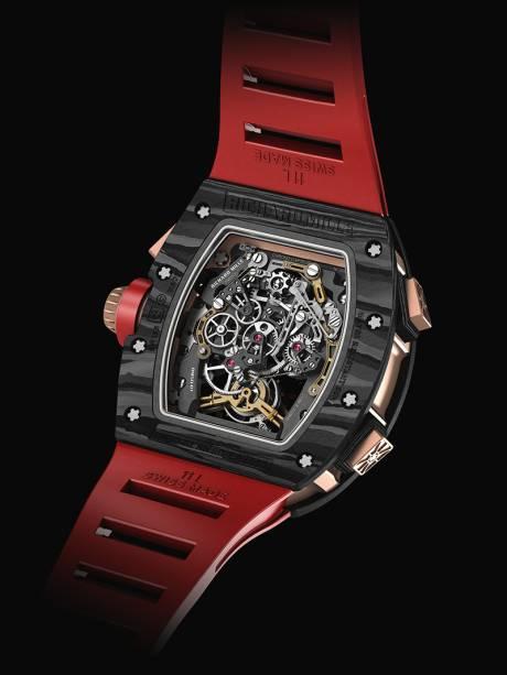 RM 011 Flyback Chronograph: a Richard Mille desenvolveu um carbono com 600 camadas de fi bra