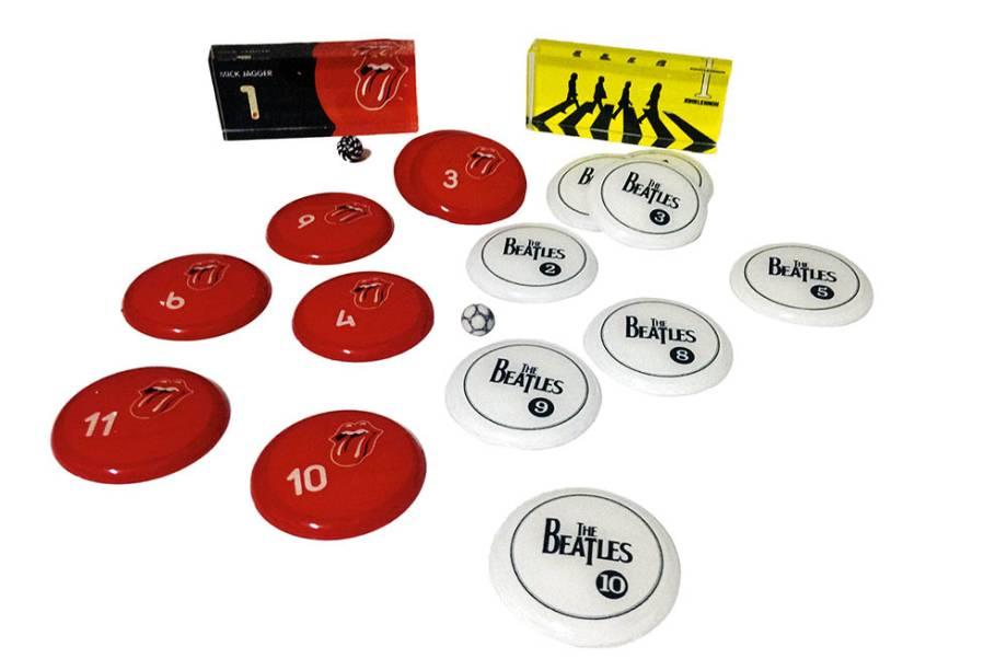 Kit de futebol de botão Rolling Stones X The Beatles: R$ 130,00