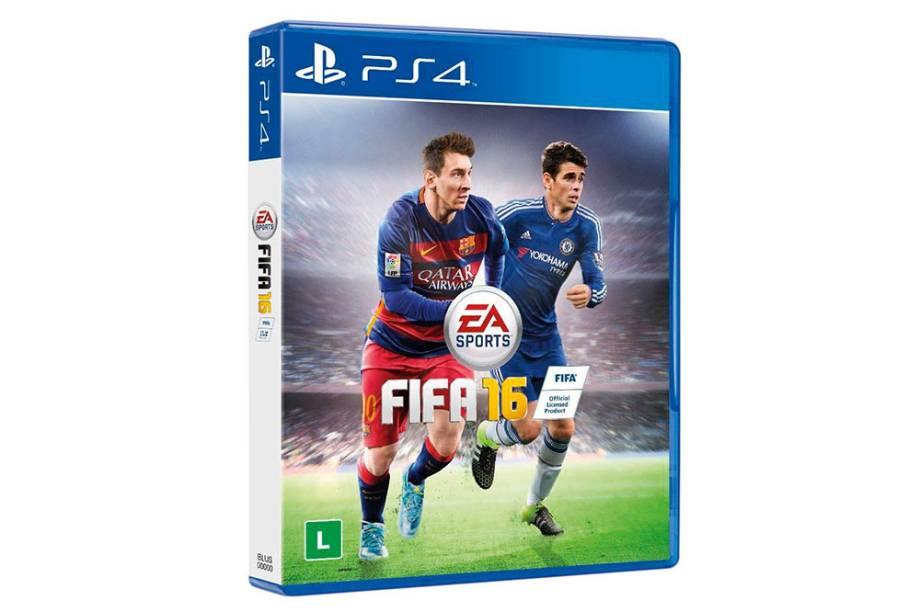 Jogo de videogame Fifa 16 para PS4: R$ 189,90