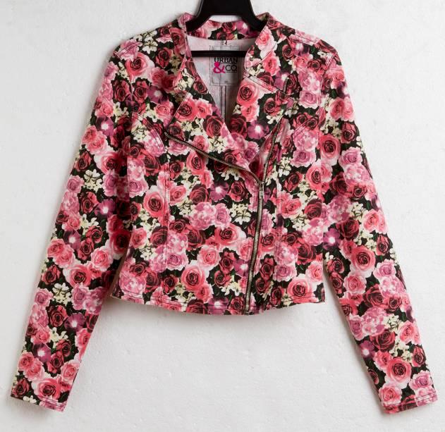 Jaqueta floral. R$ 59,90.