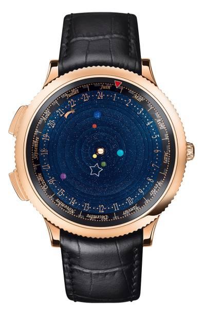 Midnight Planetárium: mica polvilhada sobre o mostrador para imitar o céu