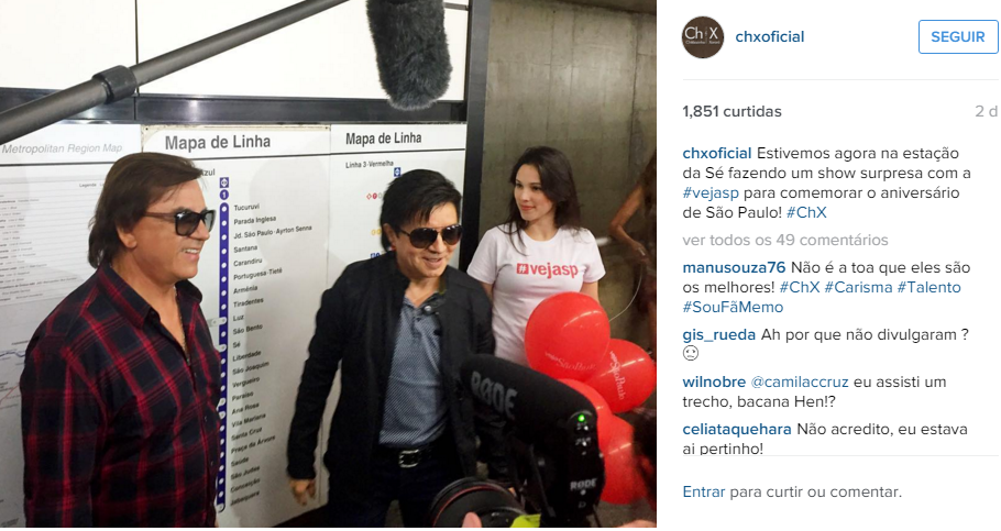A dupla sertaneja comentou o evento no Instagram