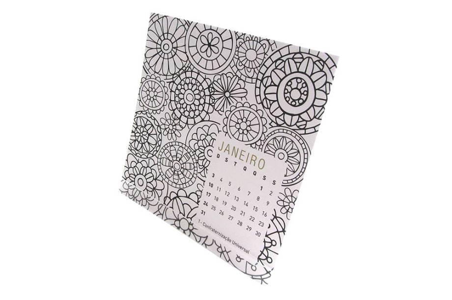 Calendário de mesa para colorir: R$ 27,60
