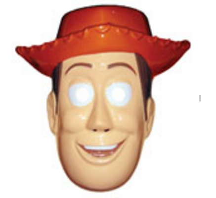 Máscara Woody (Festimania - 12,90 reais)