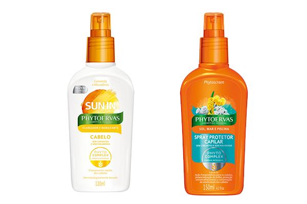 Protetor capilar com filtro solar e clareador de cabelos