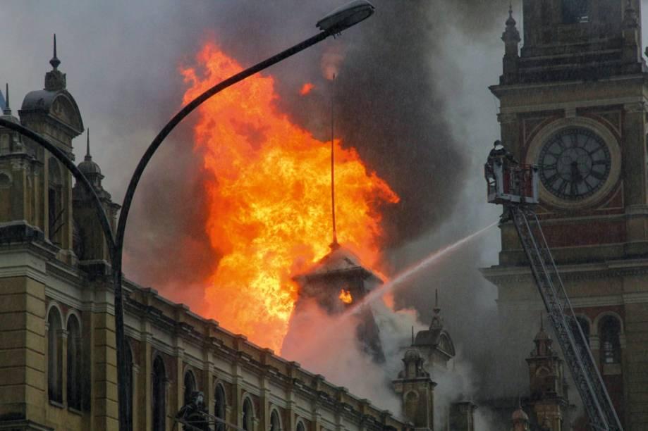 Incêndio Museu da Língua Portuguesa
