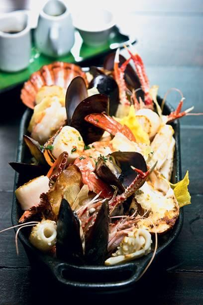 Misto de frutos do mar: o preço depende do peso