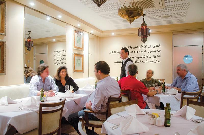 Salão agradável: movimentado durante o almoço