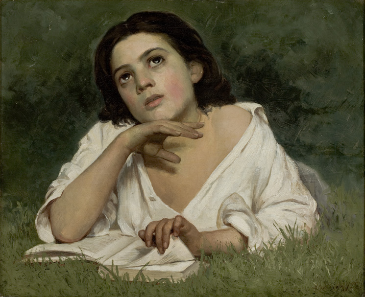 """""""Moça com livro"""", de Almeida Júnior, sem data"""