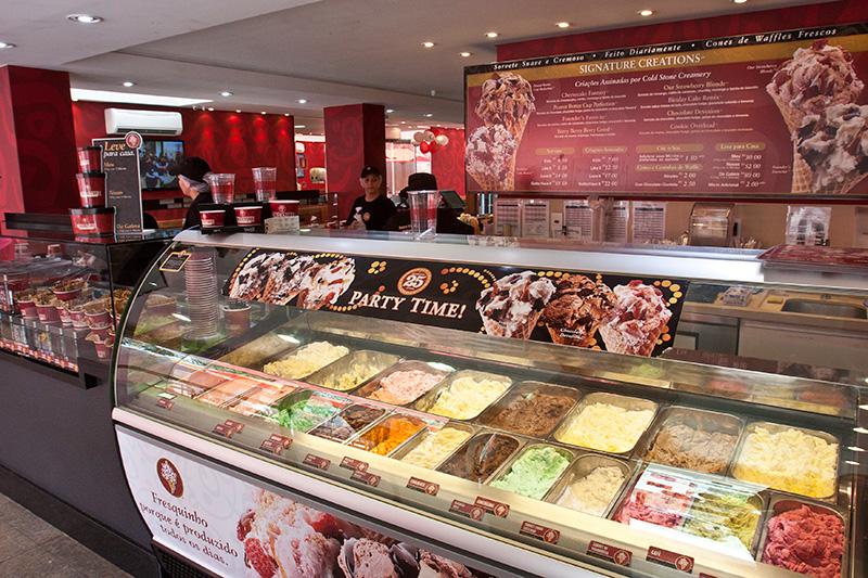 Ambiente da sorveteria