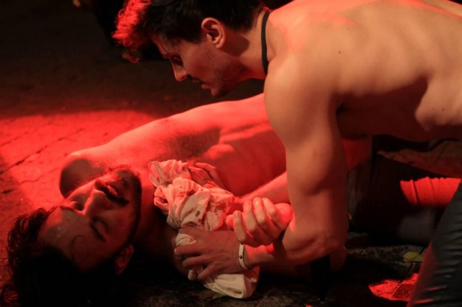Felipe Marcondes e Patrick Orlando: drama de Brad Fraser