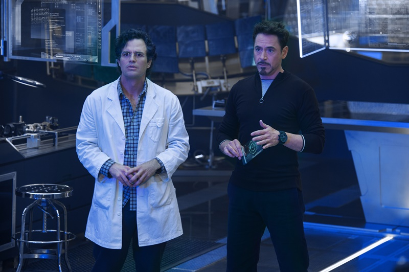 Vingadores: Era de Ultron: os atores Mark Ruffalo e Robert Downey Jr.
