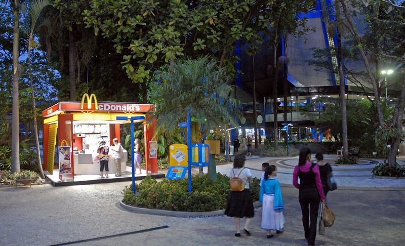 Área de alimentação do clube A Hebraica