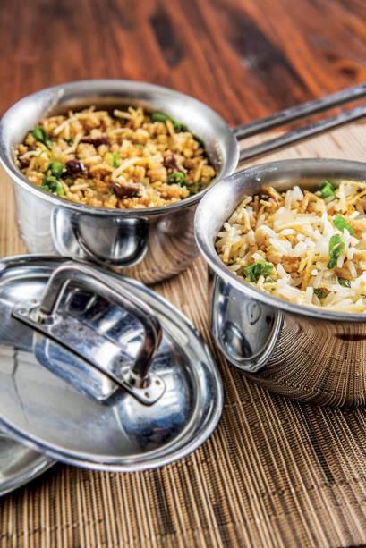Farofa e arroz biro-biro