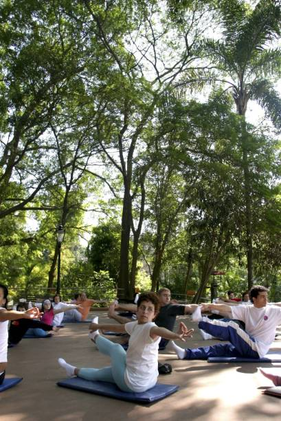 Aula de ioga no Sesc Ipiranga