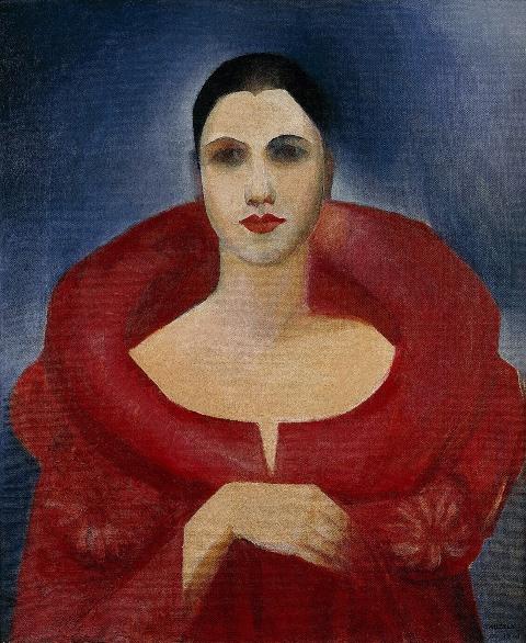 Auto-retrato (Manteau Rouge), 1923