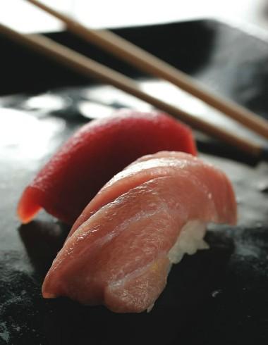 Especialidade: unidades de sushi de maguro e toro