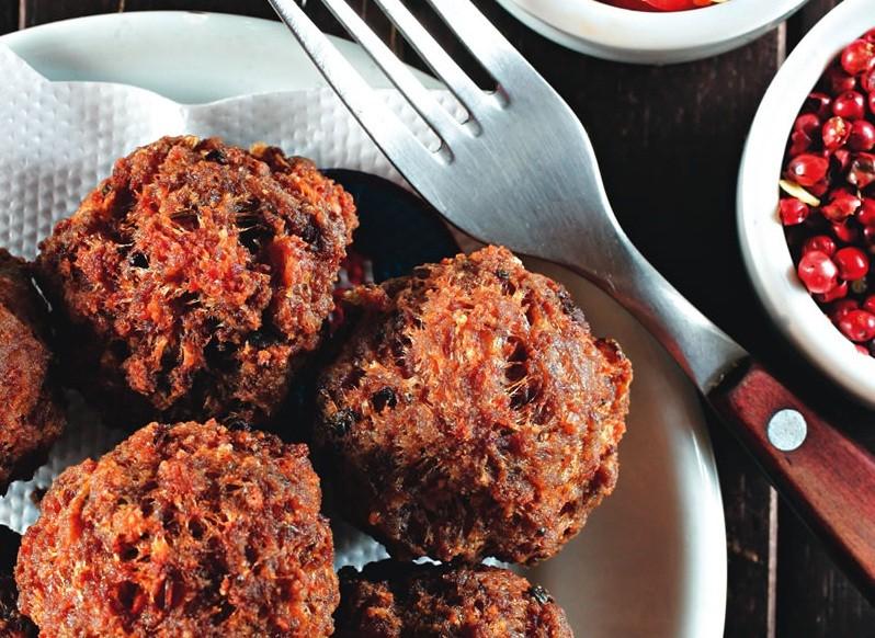 O quitute de carne: sequiho, crocante e bem saboroso