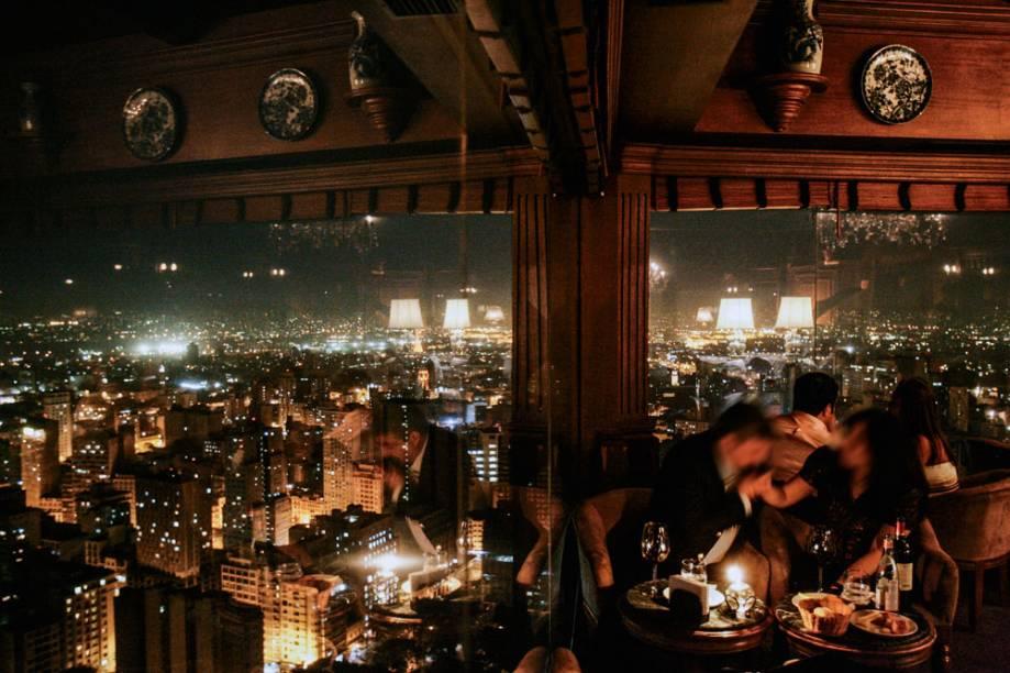O salão com vista para a cidade: clima romântico