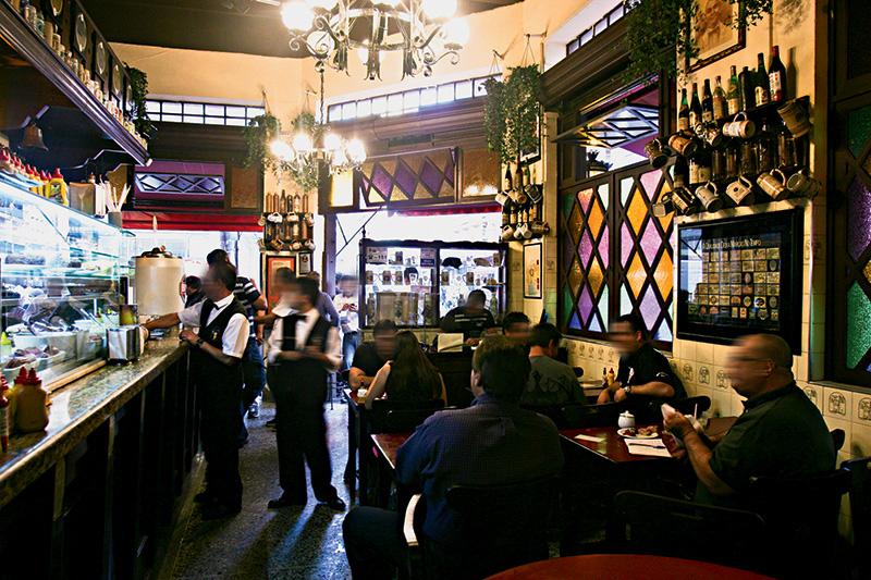 Ambiente do Bar Léo