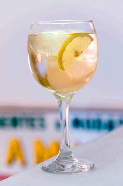 Equilibrado, o porto-tônica vem com rodelas de limão